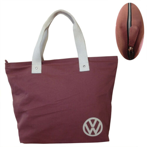 Official VW Canvas Ladies Shopping Tote Bag Red