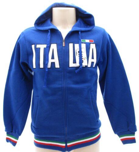 Felpa con zip scritta ITALIA colore blu royal