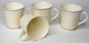 Set-of-4-Vintage-Arcopal-China-Gastronomie-Tea-Coffee-Mugs-Reception-Pattern