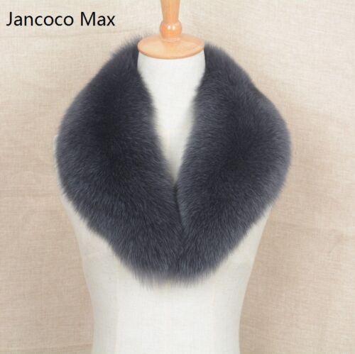 2019 Real Fur Collar Trimming Fashion Warm Scarf Women Jacket Magnetic 31638