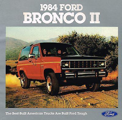 1982 Ford Bronco Standard XLT Lariat XLS Dealer Sales Brochure