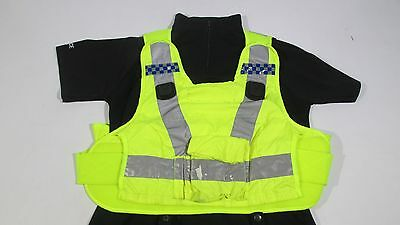 Ex Police Hi Vis Body Armour Cover With Reflective Strips Radio Docks