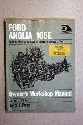 FORD ANGLIA 105E 1959 - 1968 HAYNES WORKSHOP MANUAL   (WM51)