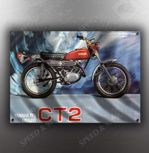 VINTAGE YAMAHA 175 CT2 MOTORCYCLE BANNER