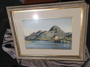 Emil-Kosa-Jr-Watercolor-California-Landscape-Lake-Sherwood-Los-Angeles-area