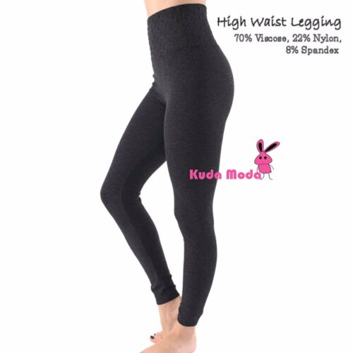 Lady High Waist Fleece Lined Thick Footless Leggings Tummy Control Pants