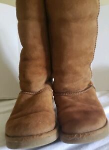 UGG Womens Leather and Sheepskin Lining Boot sz 7