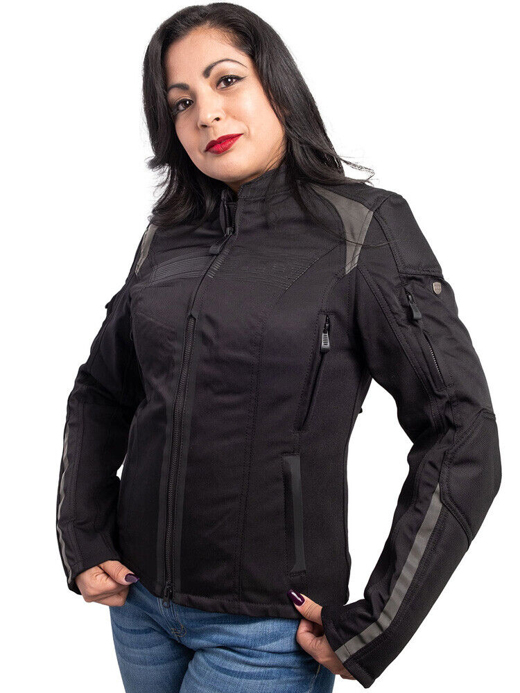 Harley-Davidson Womens Ledgeview Reflective Fitted Riding Jacket 98335-19VW