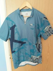 Mens-Medium-agu-Cycling-Jersey-Blue-in-great-condition