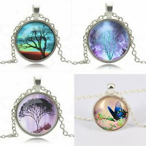 Collier-pendentif-cabochon-arbre-de-vie-tree-of-life-Fashion-mode-Ref-C0