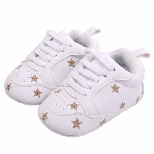 2019 Baby Shoes Newborn Boys Girls Heart Star Pattern First Walkers Kids