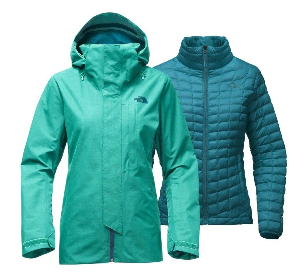 North Face Donna Alligare Triclimate Gore-Tex Thermoball Giacca Vistola Blu M