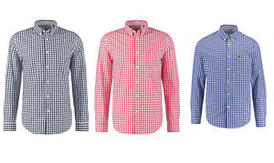 the latest 1d29e 6c942 Details zu Lacoste Herren Hemd Kariert Männer Bekleidung Lacoste Herrenhemd  Regular 38 - 45