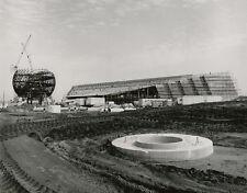 Vintage DISNEY WORLD EPCOT CONSTRUCTION 8x10 PHOTO Spaceship Earth, Ground Level
