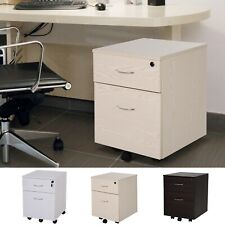 Two Drawer A4 Filing Cabinet Under Desk Storage Unit Lockable Rolling Casters