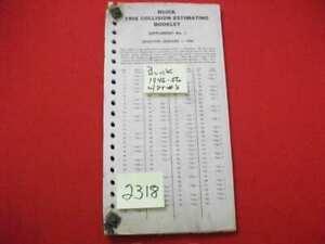 1956-BUICK-COLLISION-ESTIMATING-BOOKLET-1946-1955-INC-ORIGINAL-PART-039-s-amp-PRICE