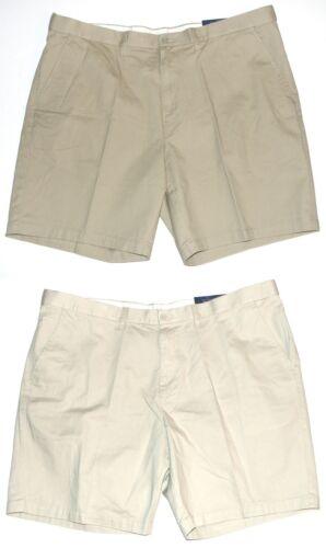 Croft /& Barrow NEW Tan Ivory Flex Waist Flat Front Shorts Mens Big /& Tall $44