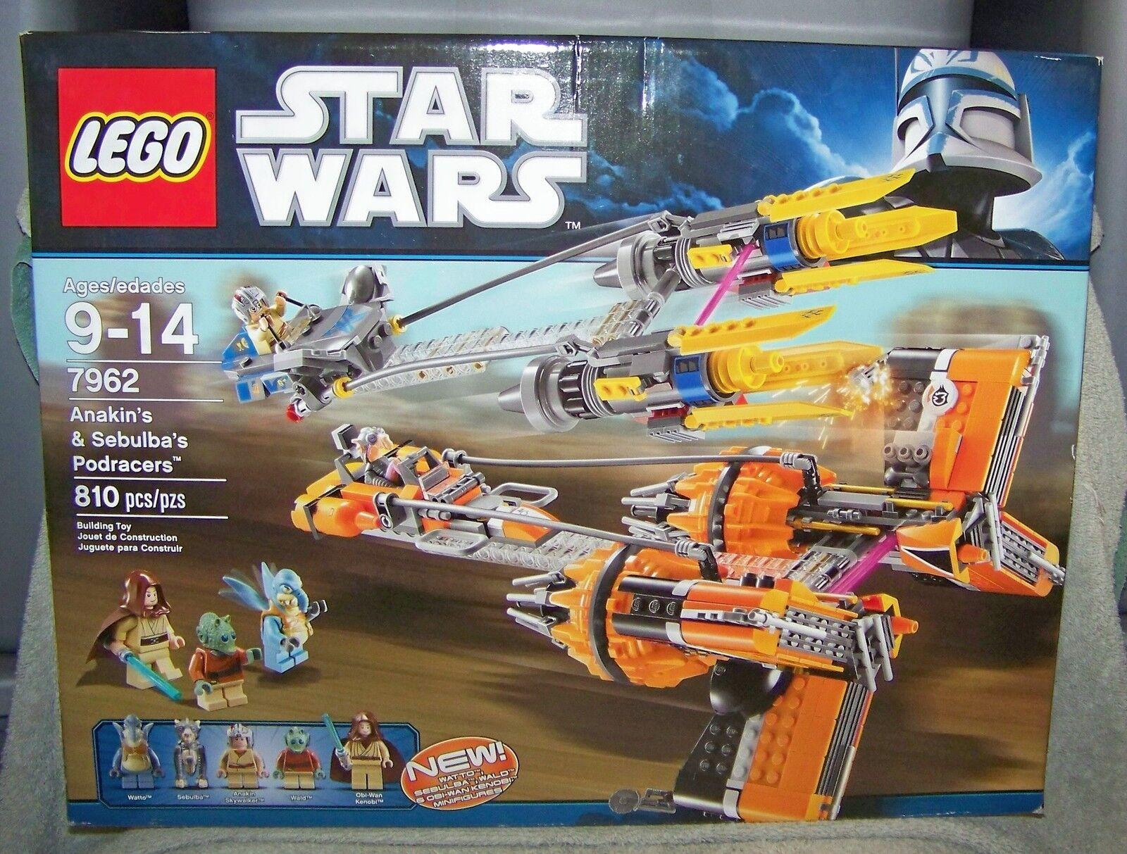 Estrella  guerras LEGO 2011 ANAKIN & SEBULBA'S PODRACERS SET  7962  seleziona tra le nuove marche come