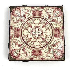 Antique-Victorian-JOSIAH-WEDGWOOD-amp-SONS-ETRURIA-Foliage-Design-Trivet-Stand-6-034
