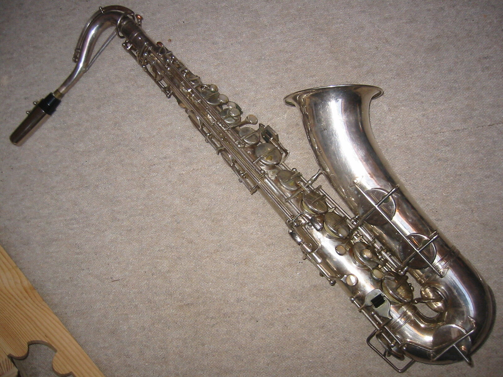 Saxofón Tenor Tenor Tenor Antigua Alemania Oriental Weltklang 0085ac