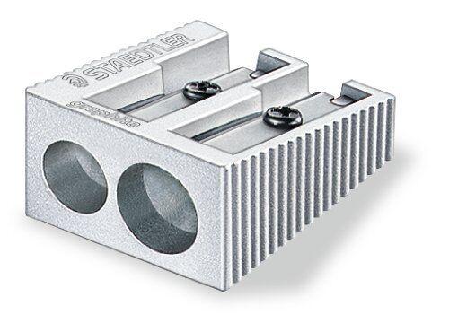 Staedtler Sacapuntas De Aluminio-simple o doble agujero-Paquete de 1,2 o 3