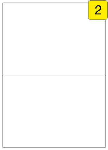 Größe 10 Blatt DIN A4 20 Etiketten 210x148,2