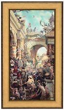 Tom duBois HOSANNA Canvas S/N LE Framed Jesus Christ Palm Sunday Religious Art