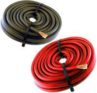 10ft 8 Gauge Primary Speaker Wire Amp Power Ground Car Audio 5' Red + 5' Black