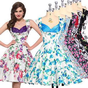 50er 60er Jahre Tanz Kleid Zum Petticoat Vintage Mode Damen Abend