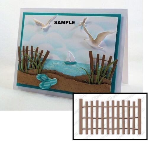 Impression Obsession BEACH FENCE Craft Die Set Steel DIE179-J