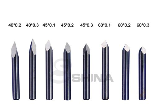5x 90° 6mm SHD 0.2mm CED Carbide Pyramid Engraving Bits CNC Router Tool