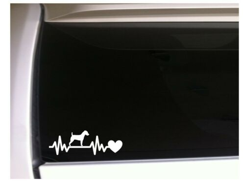 "Jack Russell Heartbeat Lifeline Vinyl Car Decal 7.5/"" *M42 Pets Sticker Dog"