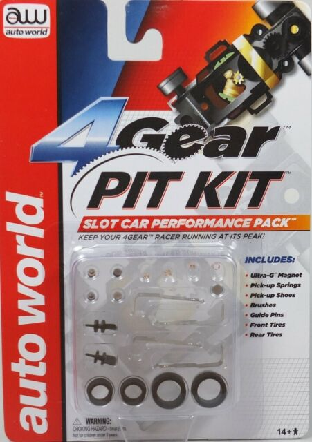 Ho Slot Car Auto World 4 Gear PIT KIT Performance Pack #00230 Tune-up AW AFX NEW