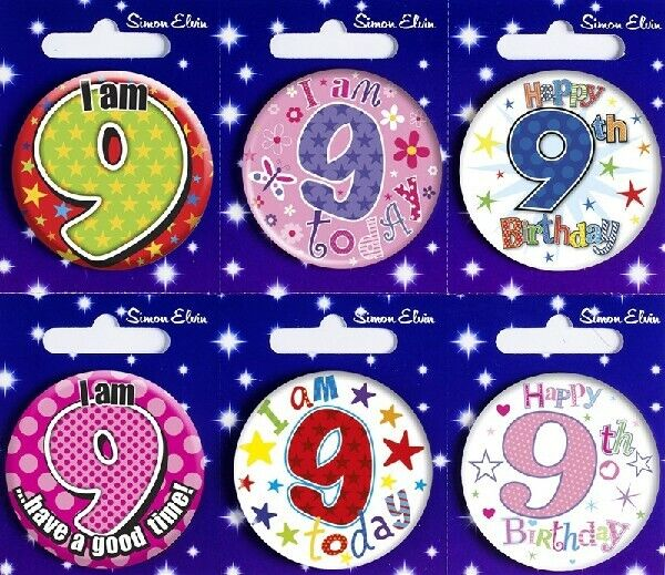 jumbo 9 today boys giant badge 9th age 9 big girls birthday party large