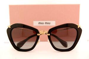 Miu Miu Noir Sonnenbrille Schwarz 1AB3M1 55mm OprjdTU80e