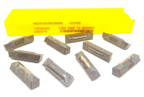 x10 Kennametal A4G0805M08U08GMN Carbide Inserts KC5025 Parting Grooving Tips#MK3