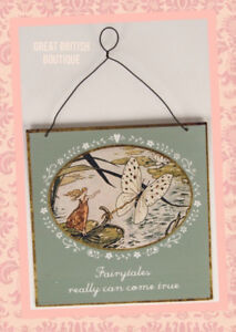 Fairy-Shabby-Chic-Small-Metal-Sign-034-Fairytales-Really-Can-Come-True-034-Sass-amp-belle