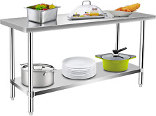 Commercial Kitchen Prep Amp Work Table Stainless Steel Food Prep Table 60 X 24