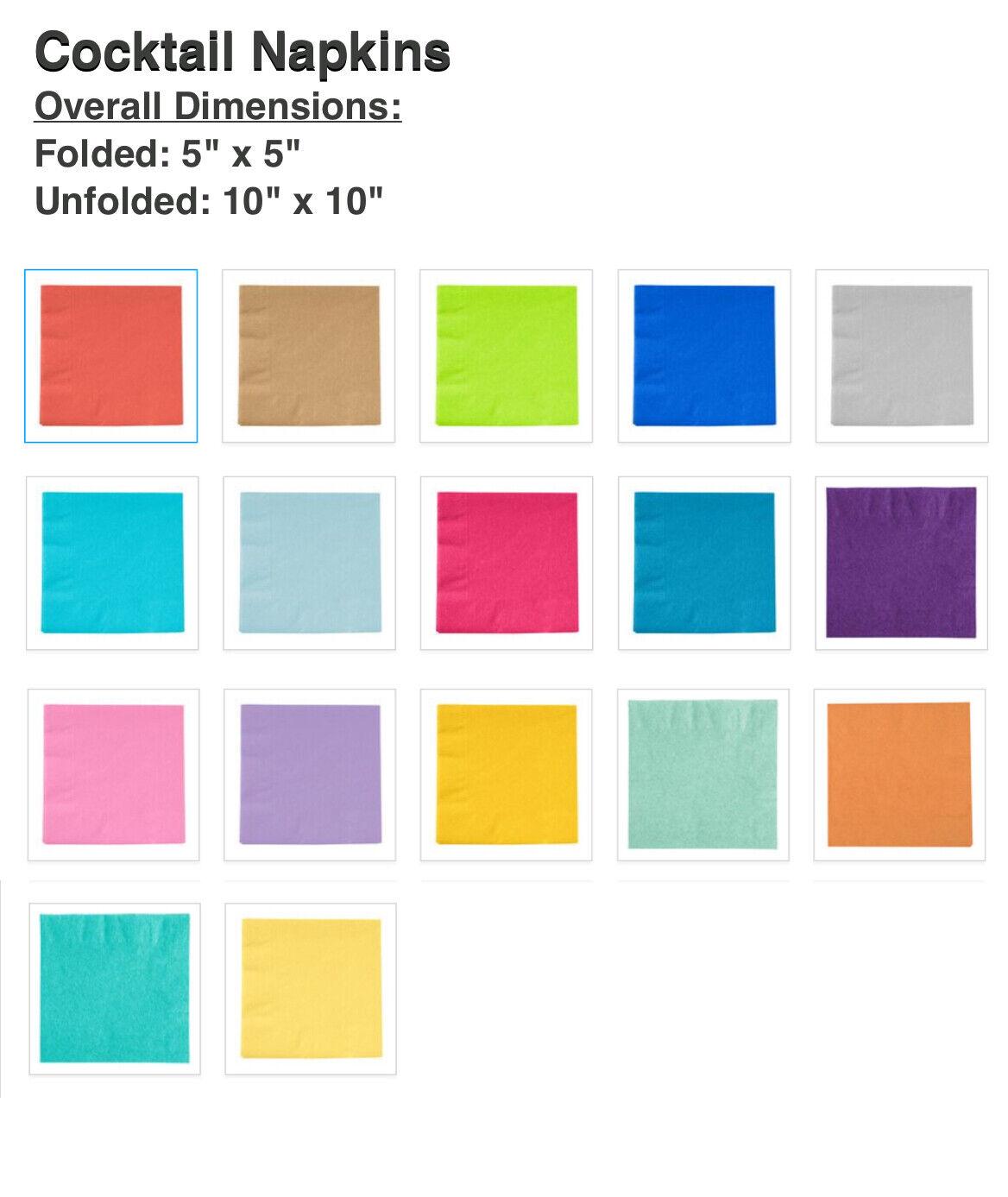 "medium green 15 ¾x15 ¾ /"" NEW FANTASTISK Paper napkin 50 Pack"