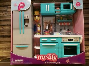 My Life As Kitchen Play Set For My Life As 18 Poseable Dolls 64 Pieces 806044005649 Ebay