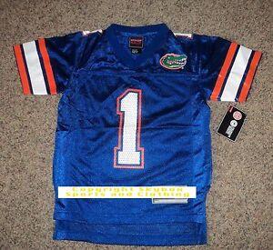 New-Florida-Gators-1-Royal-Blue-and-Orange-Home-Football-Jersey-Boy-039-s-Sizes