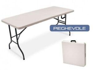 Tavolo Pieghevole Per Catering.Tavolo Pieghevole Campeggio Catering Piano Polietilene 120x60 Cm