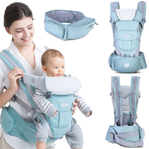 3 in 1 Hipseat Ergonomic Baby Carrier 0-36 Months Wrap Infant Sling Backpack