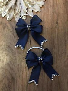 Mädchen Accessoires Girls School Navy Hair Bow Bobbles Sold
