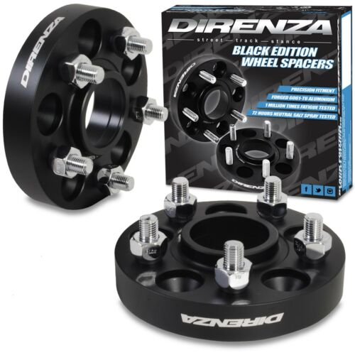 DIRENZA 5x108 25mm ALUMINIUM HUBCENTRIC WHEEL SPACER PAIR FOR FORD MONDEO 00+