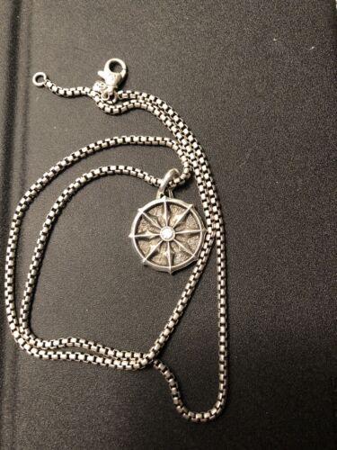 David Yurman Dharma Wheel With 22' Chain