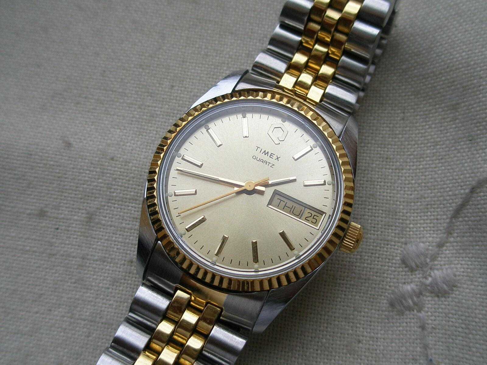 1978 NEW OLD STOCK SUPERBE RARE TIMEX le président, Quartz, orargent sterling, desservies!