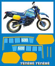 YAMAHA XT 600 Z TENERE 1VJ 86 mod. blù  - adesivi/adhesives/stickers/decal