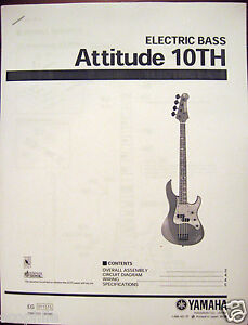 Yamaha Attitude 10TH Bass Guitar Service Manual and Parts List