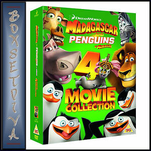 Details about MADAGASCAR & PENGUINS OF MADAGASCAR- 4 MOVIE COLLECTION  *BRAND NEW DVD BOXSET***